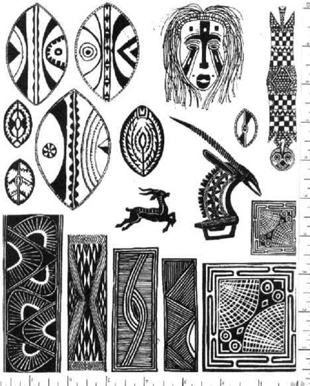 Jim Stephan Rubber Ink Art - 16: African Designs