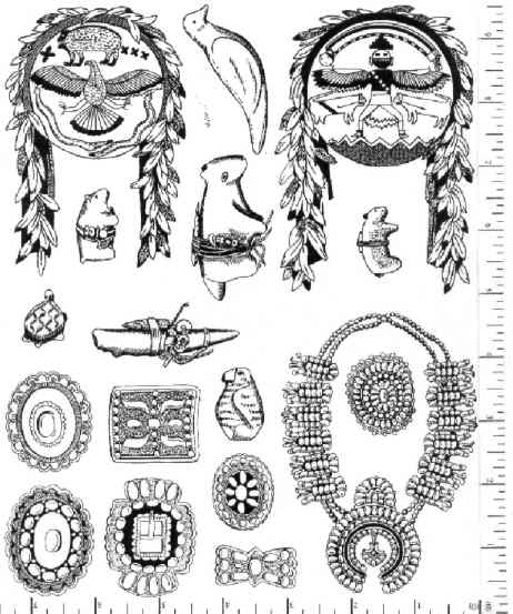 Jim Stephan Rubber Ink Art - 6: Native American Jewelry